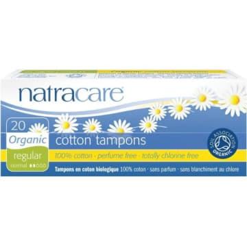 Regular Natracare to delikatne bawełniane tampony w średnim rozmiarze.
