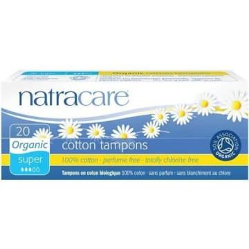 Tampony higieniczne Super 20szt Bio Natracare zawierają wyłącznie naturalne materiały.