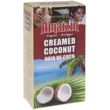 Pasta z mleka kokosowego - Amaizin. To delikatny koncentrat z miąższu kokosa.