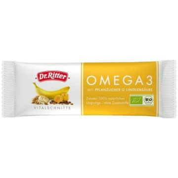Baton energetyczny Omega 3 - Dr Ritterr to połączenie suszonych owoców, bakalii i ziaren.