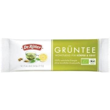 Baton energetyczny - Dr Ritter. Energetyczna przekąską z dodatkiem zielonej herbaty.