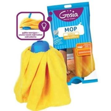 Żółty zapas do mopa z mikrofibry - Gosia. To wysokiej jakości produkt, który doceni każda Pani domu.