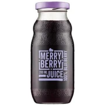 MERRY BERRY Naturalny sok 100% borówka 200ml