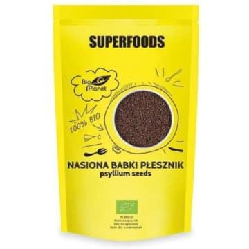 BIO PLANET SUPERFOODS Nasiona babki płesznik BIO 250g