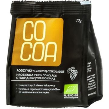 Rodzynki w surowej czekoladzie 70g - Cocoa