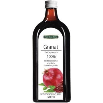 Sok bezpośrednio wyciskany z owoców granatu -Premium Rosa