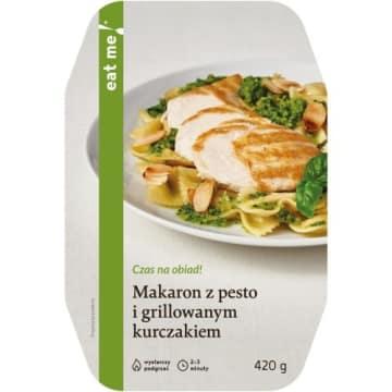 Makaron pesto z grillowanym kurczakiem - Eat Me! Włoski smak na talerzu.