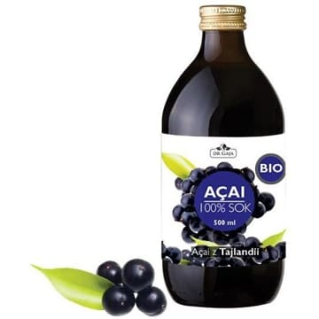 Sok z jagód Acai posiada wiele właściwości prozdrowotnych. To źródło m.in. witaminy C.
