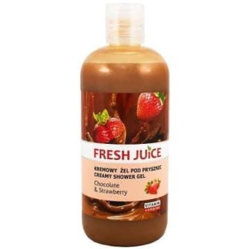 Żel pod prysznic czekolada i truskawka - Fresh Juice odświeża skórę i zapewnia intensywny zapach.