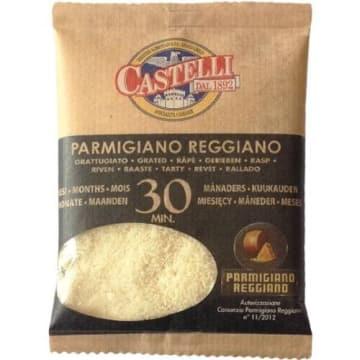 Ser twardy dojrzewający tarty - Castelli. Mleczny ser z ostrym posmakiem.