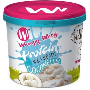 Lody proteinowe masło orzechowe - Whoopy Whey wyprodukowano z naturalnych składników.