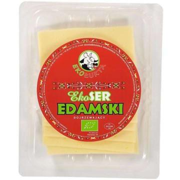 EKOŁUKTA Ser żółty podpuszczkowy Edamski plastry BIO 150g