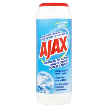Ajax - Proszek do czyszczenia podwójnie wybielający. Skuteczne oczyszczanie powierzchni i dbałość o nie w jednym.