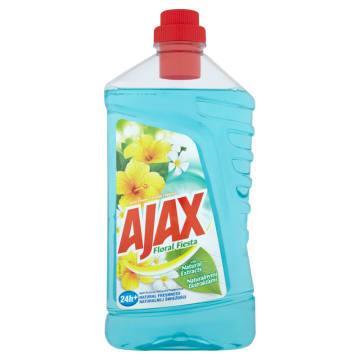 Wydajny płyn do czyszczenia Lotos Ajax Floral Fiesta o kwiatowym zapachu.