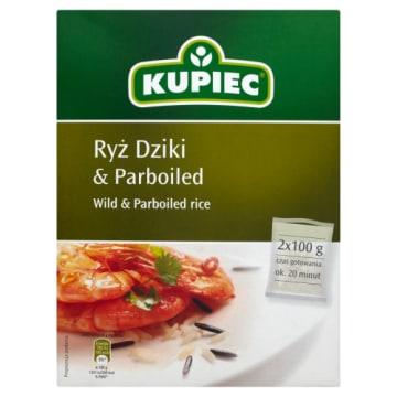 Kupiec - Ryż dziki&parboiled 2x100g 200g. Produkt najwyższej jakości.