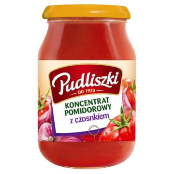 Pudliszki - Koncentrat pomidorowy z czosnkiem 200g. Fantastyczny dodatek do wielu dań.