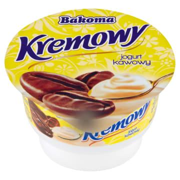 Kremowy Jogurt kawowy BAKOMA 150g - wyśmienity, lekki  deser o smaku kawowym.