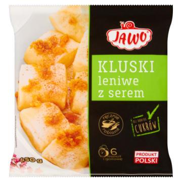 Kluski leniwe z serem- Jawo. Sycąca porcja z zawartością białka i wapnia.