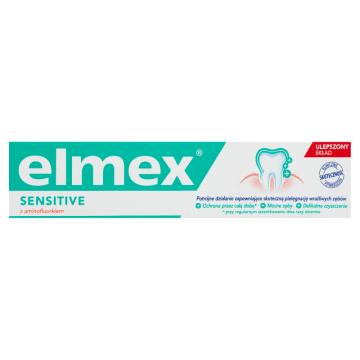 Pasta do zębów Sensitive – Elmex to specjalna pasta, która tworzy warstwę ochronną na zębach.