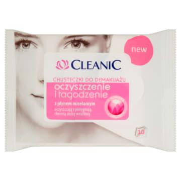 Chusteczki do demakijażu Cleanic skóra sucha i wrażliwa - delikatne i łagodne oczyszczanie skóry.