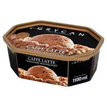 GRYCAN-Lody Familijne Cafe Latte 1100ml - idealne połączenie kremowej śmietanki ze smakiem delikatnej kawy