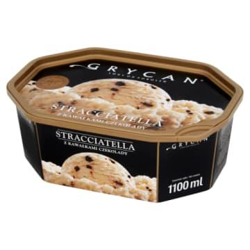 Grycan Lody Familijne Stracciatella z kremowej śmietanki delikatnej czekolady.