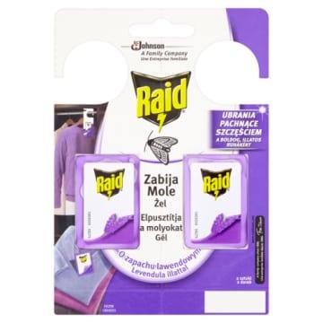 Środek przeciw molom - Raid. Skuteczny preparat o świeżym zapachu.