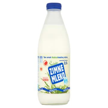 Zimne Mleko Czyste Filtrowane w szklanej butelce - Robico