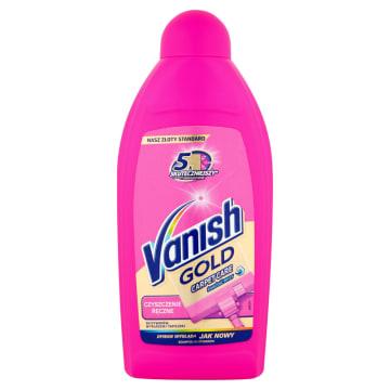 Szampon do dywanów - Vanish Clean&Fresh. Piana wnika w głąb tkaniny i rozpuszcza brud.