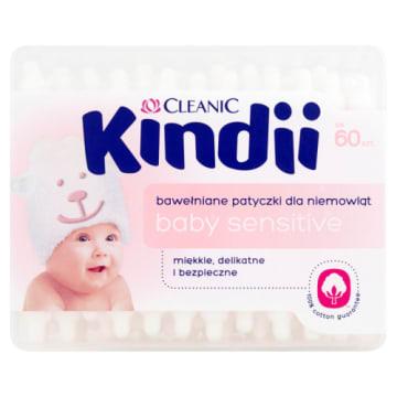 Patyczki dla dzieci - Cleanic Dzidziuś. Zestaw 60 patyczków do uszu i pępka dzieci i niemowląt.