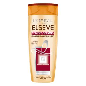 Szampon odbudowujący do włosów słabych – Loreal Elseve z 3-stopniowym programem pielęgnacji.