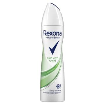 Rexona - Antyperspirant w aerozolu z Aloesem 150ml pomaga zachować świeżość na dłużej.