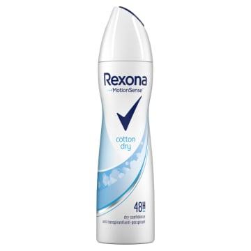 Antyperspirant w aerozolu Cotton 150ml - Rexona pomoże utrzymać uczucie świeżości.