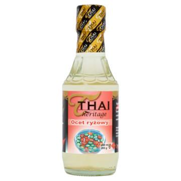 Ocet ryżowy THAI HERITAGE 200ml - niezbędnik w kuchni amatora dań tajskich czy japońskich.