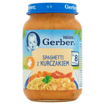 Gerber Obiadek - Spaghetti z kurczakiem - Po 8 miesiącu. Uwielbiany przez najmłodszych.