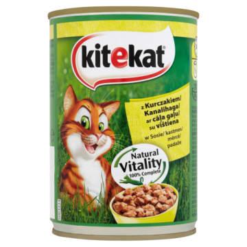 Pokarm dla kotów z kurczakiem w puszce - Kitekat. Pełnowartościowy pokarm dla Twojego pupila.
