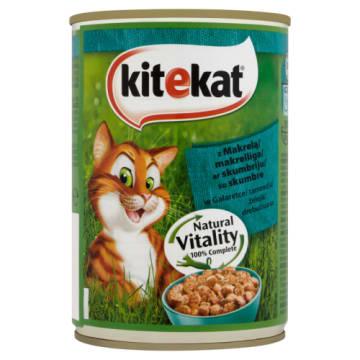 Kitekat - Pokarm dla kotów z makrelą puszka 400g to pełnowartościowy posiłek dla wąsatych pupilów.