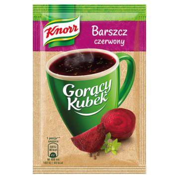 Gorący Kubek Barszcz czerwony - KNORR. Ciesz się domowym barszcze w ekspresowm tempie.