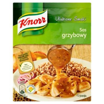 Knorr - Sos grzybowy Domowe Smaki posiada wyjątkowy aromat, który nada smaku potrawom.