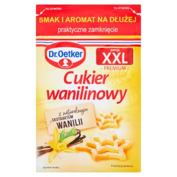 Cukier wanilinowy - porcja XXL DR OETKER 43g - olbrzymia, ekonomiczna porcja.