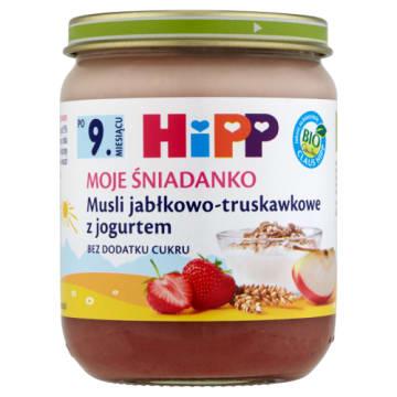 Musli z truskawkami z jogurtem-Hipp. Wyjątkowe połączenie smacznych owoców i kremowego jogurtu.