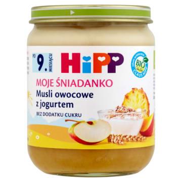 Hipp Moje Śniadanko Musli z jogurtem po 9. miesiącu pokrywa codzienne zapotrzebowanie na wapń.