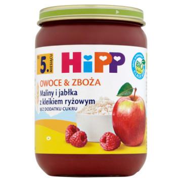 Hipp Owoce&Zboże-Maliny i jabłka kleik ryżowy po 5msc. Słodka przyjemność dla najmłodszych.