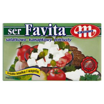 Ser sałatkowo-kanapkowy Favita - Mlekovita. To ser bogaty w składniki odżywcze, a przy tym smaczny.
