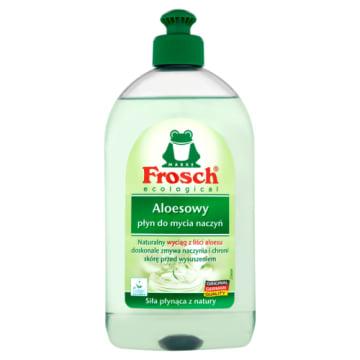 Aloesowy płyn do mycia naczyń - Frosh. Płyn o przyjemnym zapachu, delikatny dla rąk.