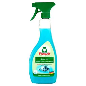 Płyn czyszczący na bazue sody - Frosch. Idealnie usuwa wszystkie tłuste plamy.
