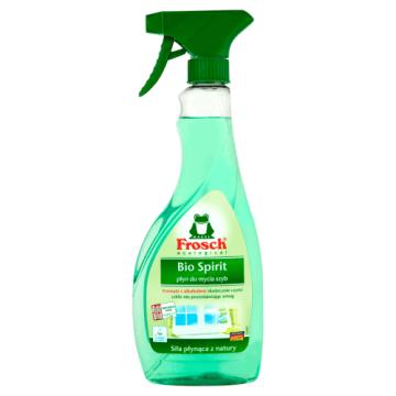 Płyn do mycia szyb w sprayu – Frosch na bazie spirytusuto skuteczny sposób na czyste okna i lustra.