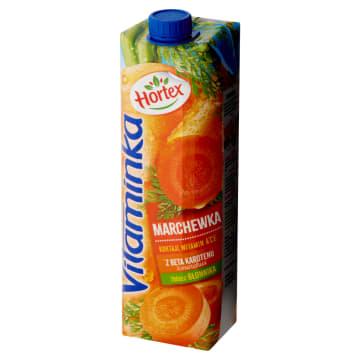 Hortex Vitaminka - Sok z marchwi. Zdrowa poracja marchewki na co dzień.