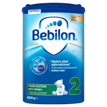 Mleko następne z Pronutra + - Bebilon 2. Mleko przeznaczone dla dzieci powyżej 6 miesiąca życia.