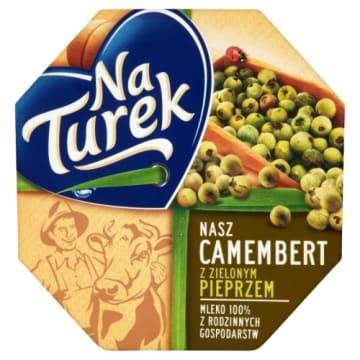 Camembert z zielonym pieprzem - NaTurek. Delikatny i miękki ser z polskiego, krowiego mleka.